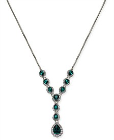 """Charter Club Crystal & Stone Lariat Necklace, 17"""" + 2"""" extender, Created for Macy's"""