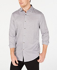 Men's Stretch Houndstooth Dobby Shirt, Created for Macy's