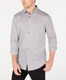 Tasso Elba Men's Houndstooth Dobby Shirt, Created for Macy's