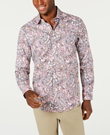 Tasso Elba Men's Anster Paisley Print Shirt, Created for Macy's