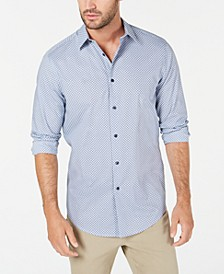 Men's Stretch Medallion Print Shirt, Created for Macy's