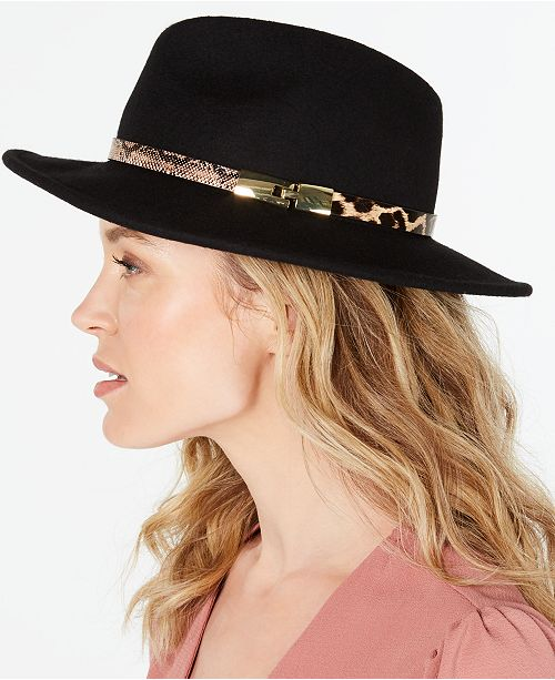 INC International Concepts I.N.C. Animal-Band Panama Hat, Created for Macy's