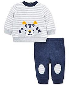 Baby Boys 2-Pc. Cotton Tiger Sweatshirt & Jogger Pants Set