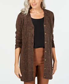 Karen Scott Long Cardigan Sweater, Created for Macy's