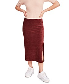 Helen Ribbed Tube Midi Skirt