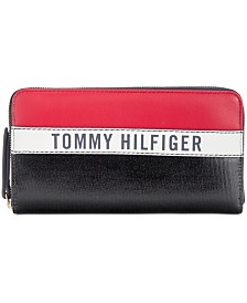 Tommy Hilfiger Julia Coated Canvas Zip Wallet