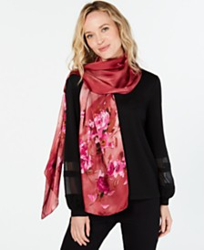 Vince Camuto Ombré Tea Rose Silk Oblong Scarf