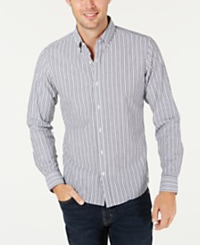 Michael Kors Men's Slim-Fit Stretch Stripe Benton Shirt