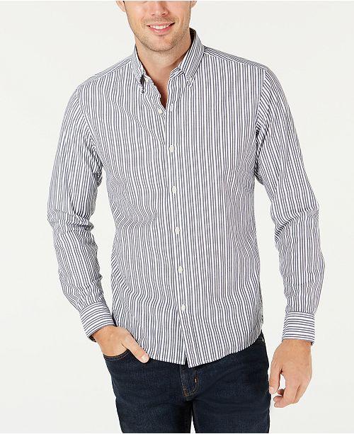 Michael Kors Men's Slim-Fit Stretch Stripe Benton Shirt