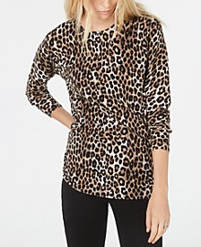 Leopard Print Sweater, Regular & Petite Sizes