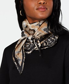 I.N.C. Snake-Print Kite Scarf, Created for Macy's