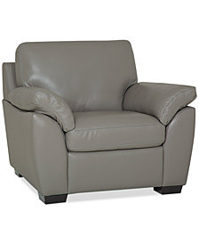 """Lothan 41"""" Leather Chair, Created for Macy's"""