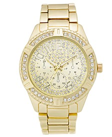 INC Men's Gold-Tone Bracelet Watch 47mm, Created for Macy's