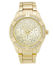 I.N.C. Men's Gold-Tone Bracelet Watch 47mm, Created for Macy's