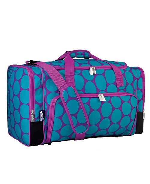 Wildkin Big Dot Aqua Weekender Duffel Bag