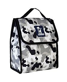 Gray Camo Lunch Bag