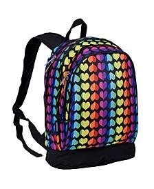 "Rainbow Hearts 15"" Backpack"