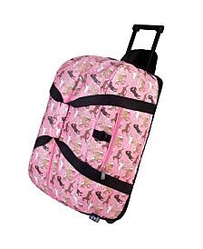 Wildkin Horses In Pink Rolling Duffel Bag