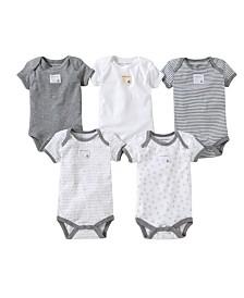 Burt's Bees Baby Organic Cotton Set of 5 Bee Essentials Short Sleeve Bodysuits