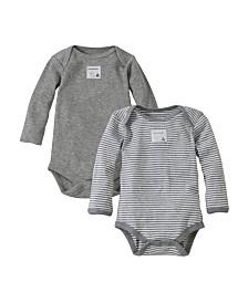 Burt's Bees Baby Organic Cotton Set of 2 Bee Essentials Long Sleeve Bodysuits