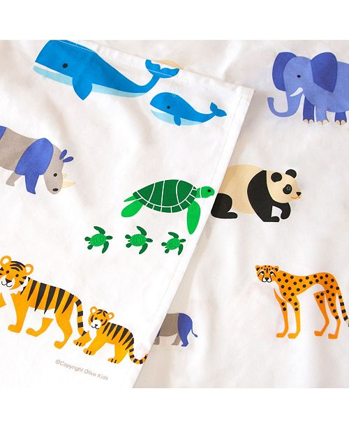 Wildkin Endangered Animals Twin Sheet Set