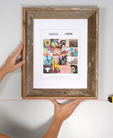 """Creative Gallery Rustic Reclaimed Barnwood 8"""" x 10"""" Picture Frame Plus A Free Laser Level"""