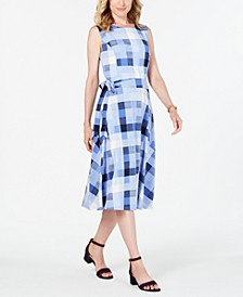 Petite Plaid Midi Dress, Created for Macy's
