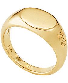 Michael Kors Sterling Silver Signet Ring