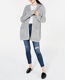 Juniors' Lace-Up Hoodie