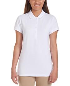 Nautica Juniors White Short Sleeve Double Pique Polo