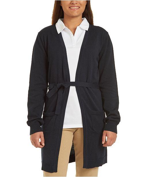 Nautica Juniors Navy Long Sweater with Tie