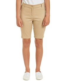 Nautica Juniors Khaki Sateen Bermuda with Adjustable Waistband