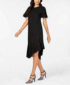 Alfani Ruffled Asymmetrical Dress, Created for Macy's