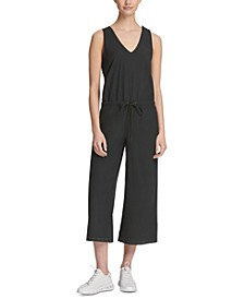Sport Cross-Back Cropped Jumpsuit