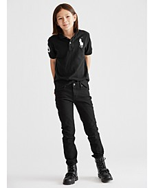 Big Boys Mesh Polo & Straight-Fit Jeans