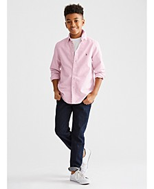Big Boys Blake Oxford Shirt & Straight Stretch Jeans