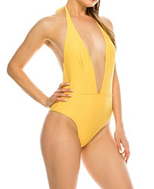 Halter Sash 1 Piece Swimsuit