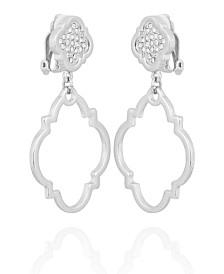 T Tahari Moroccan Metals Clip Drop Earring