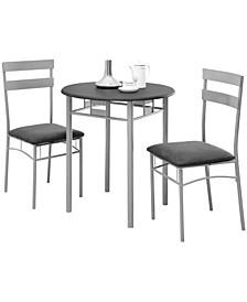 3 Piece Microfiber Dining Set