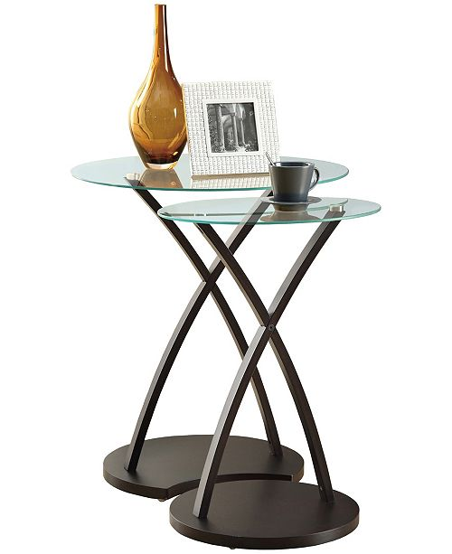 Monarch Specialties 2 Piece Nesting Table Set