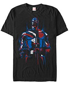 Men's Comic Collection Captain America Redemption Short Sleeve T-Shirt