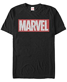 Men's Distressed Marvel Men's Logo Short Sleeve T-Shirt