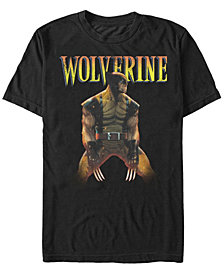Marvel Men's Comic Collection X-Men Wolverine Profile Short Sleeve T-Shirt