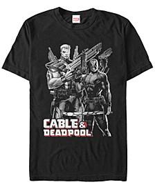 Men's Comic Collection Cable Deadpool Short Sleeve T-Shirt