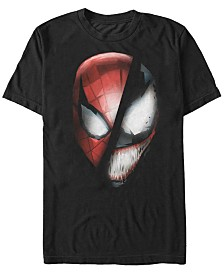 Marvel Men's Comic Collection Part Spider-Man Part Venom Short Sleeve T-Shirt
