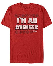 Marvel Men's Avengers Infinity War I'm An Avenger Symbols Short Sleeve T-Shirt