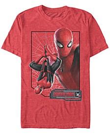 Men's Spider-Man Upside-Down Profile Spider-Man Short Sleeve T-Shirt