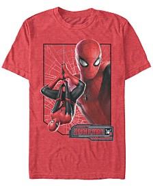 Marvel Men's Spider-Man Upside-Down Profile Spider-Man Short Sleeve T-Shirt