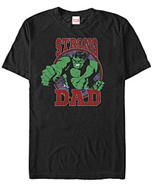 Men's Comic Collection The Hulk Strong Dad Short Sleeve T-Shirt