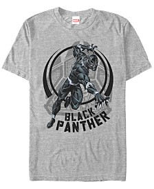 Marvel Men's Comic Collection Black Panther Action Shot Short Sleeve T-Shirt